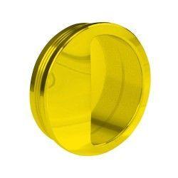 Muschelgriff rund, Kunststoff, 50 mm, gold