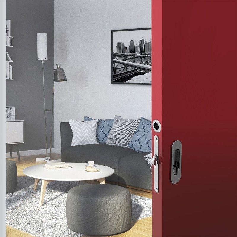 wc hakenschloss set f r schiebet ren ovale t rrosette mit griffmulde badezimmerschloss. Black Bedroom Furniture Sets. Home Design Ideas