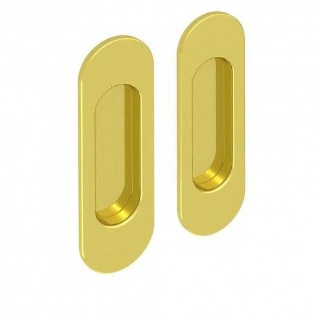 griffmulden set f r schiebet ren rund gold f r. Black Bedroom Furniture Sets. Home Design Ideas
