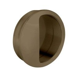 Muschelgriff rund, Kunststoff, 50 mm, beige